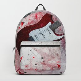 Red Electric Guitar Backpack