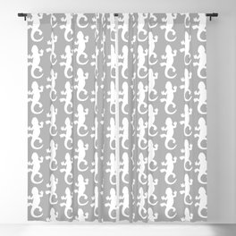 Whtie and Grey Lizard Blackout Curtain