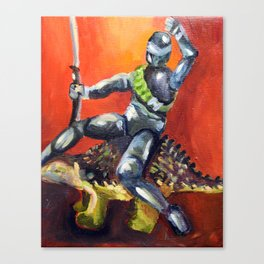 Dino and Friends Series - Snake Eyes Canvas Print