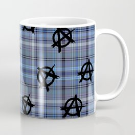 blue  plaid anarchy Coffee Mug