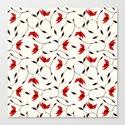 Strange Red Flowers Pattern by borianagiormova