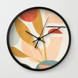 Abstract Shapes 20 Wall Clock