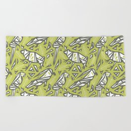 Spirit Animals Rainforest - Frogs - Alligators - Parrots Beach Towel