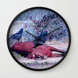 Sleeping Horse with birds Wall Clock