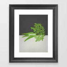 Peas/Carrots Framed Art Print