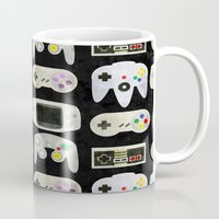 gamer Mugs featuring Gamer Nostalgia by discojellyfish