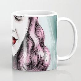 Sylvia Plath_Pink Blue Coffee Mug