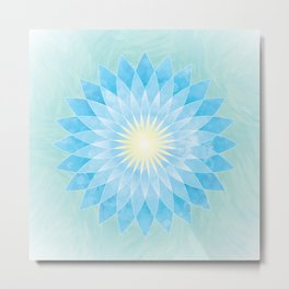 Lotus Flower Mandala Metal Print