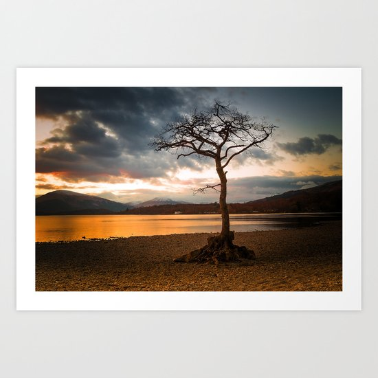 Bonny Banks Sunset Art Print