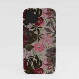 Peonies on grey. iPhone Case