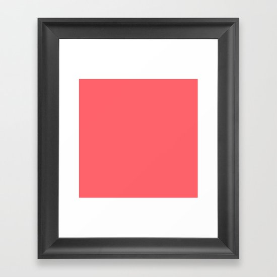 Coral Red Solid Color Block by beautifulhomes