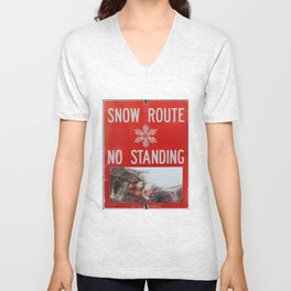 Snow-Den; by, JAco Unisex V-Neck