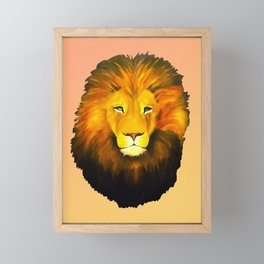 Halftone Lion Framed Mini Art Print