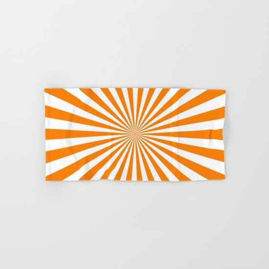 Starburst (Orange/White) Hand & Bath Towel