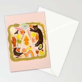 Charmed - Pink and Green Stationery Cards
