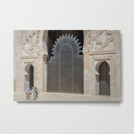 Hassan II Mosque Doorways Metal Print