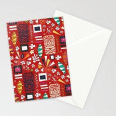 tiki red Stationery Cards