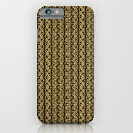 Gold Weave Abstrct iPhone Case