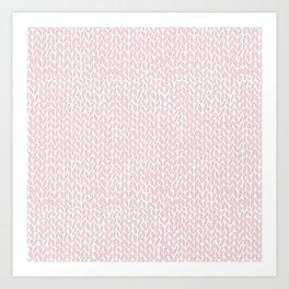 Hand Knit Bubblegum Art Print
