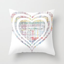 The System - heart Throw Pillow