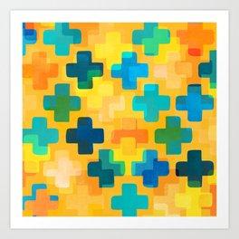Positivity / Abstract Geometric Pattern Art Print