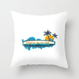 Topsail Island - North Carolina. Throw Pillow