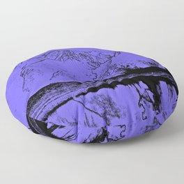 Knik River Mts. Pop Art - 1 Floor Pillow