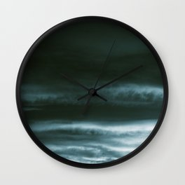BLACK & BLUE & WHITE TOUCHING #3 #abstract #decor #art #society6 Wall Clock