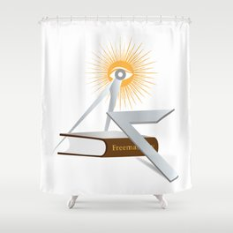 Freemasonry symbols Shower Curtain