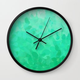 Floral Ombre (Turquoise) Wall Clock