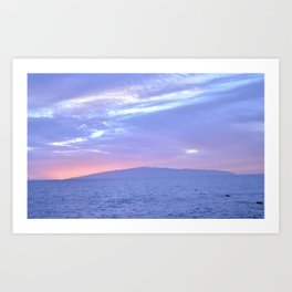 Rose Quartz and Serenity sunset. Art Print