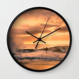 Autumn Wave Wall Clock