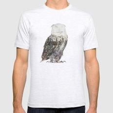 Arctic Owl Ash Grey Mens Fitted Tee MEDIUM