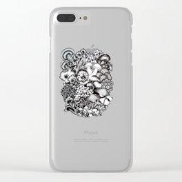 Midnight Mushrooms Clear iPhone Case