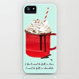 Fall in Chocolate iPhone Case