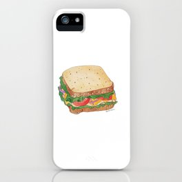 S is for Sandwich iPhone Case