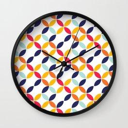 Bauhaus Flower Petal Pattern Wall Clock