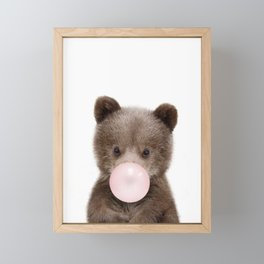 Bubble Gum Bear Cub Framed Mini Art Print