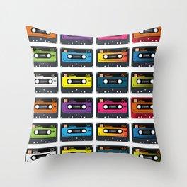 Vintage audio tape Throw Pillow