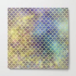 Rainbow Mermaid Scales Pattern Metal Print