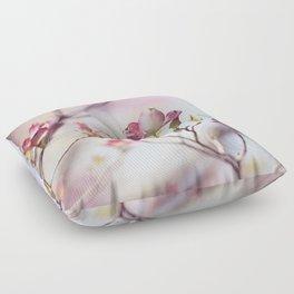 Pink Dogwood Flower Photography, Pastel Lavender Floral, Spring Nature Art Floor Pillow