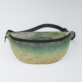 Tranquility in the emerald river Fanny Pack