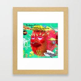 Trumphish: a nasty fish, bigly. Framed Art Print