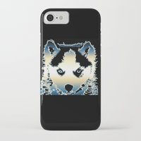 husky iPhone & iPod Cases featuring husky by AngelaArt