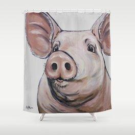 Pig Art, Cute Pig Art from original painting Shower Curtain