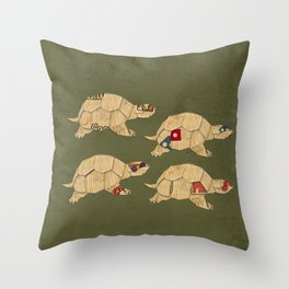 Heroes in a pizza box... Turtle Power! Throw Pillow