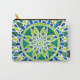 Watercolor Mandala – Green Carry-All Pouch