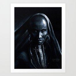 Beautiful african Art Print