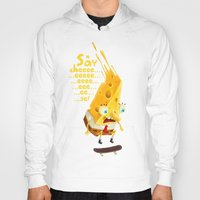 cheese Hoodies featuring Say cheese by Lime