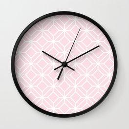 Pink geometric Wall Clock